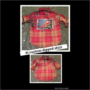 Other - Christmas custom dipped upcycled shirt.